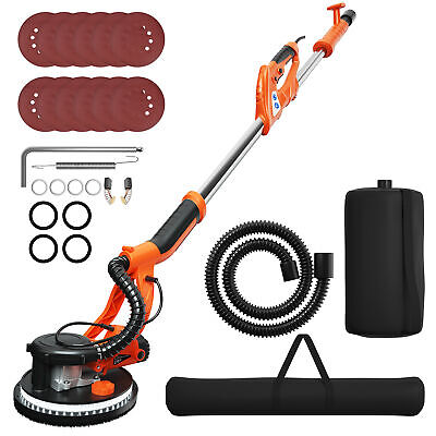 Costway Electric Drywall Sander 750w Adjustable Variable Speed W Vacuum And Led