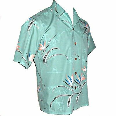 Hawaiian Eye Bird Of Paradise Kaiser Permanente Scrub Top Aloha Shirt Uniform Xs
