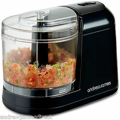 Andrew James 250W Compact Mini Chopper Slicer Food Processor Blender 400ml
