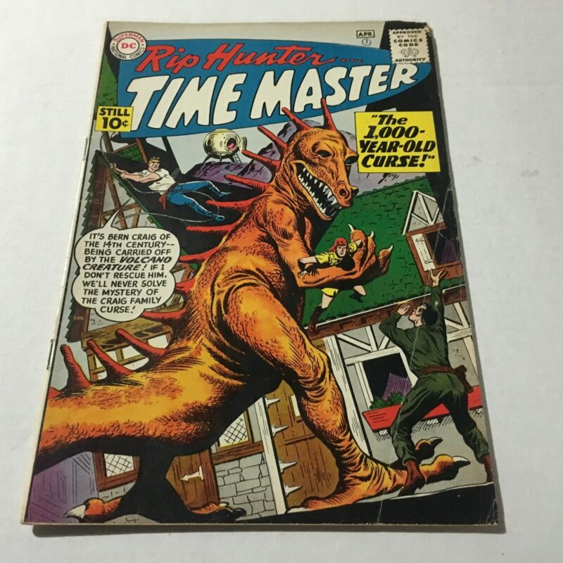 RIP HUNTER TIME MASTER #1 DC Comics Silver Age Key First Issue