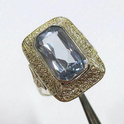 587 - Art Deco Farbstein Ring aus 925 Silber - Theodor Fahrner
