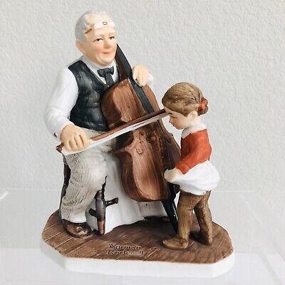 VTG Norman Rockwell 1979 Dave Grossman Figurine Grandpa's Little Ballerina Cello Grandpas Little Ballerina