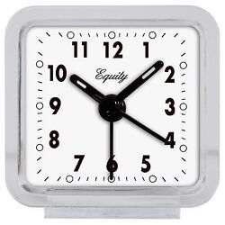 21038 Equity by La Crosse Clear Quartz Analog Travel Alarm Clock