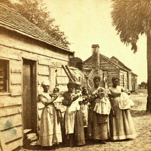 1865 Photo-African American Women holding Babies-Fripp Plantation-South Carolina