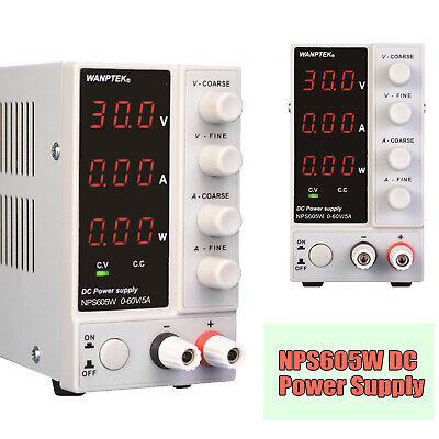 60v 5a Variable Adjustable Dc Power Supply Bench 3 Digit Laboratory Precision Us