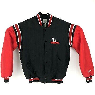 Vintage Kansas City Jr Blades Hockey Jacket Mens L Nylon Varsity Snap Front Coat - Junior Varsity Jacket