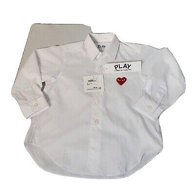 NWT Comme des garçons Play Kids Dress Shirt size 2