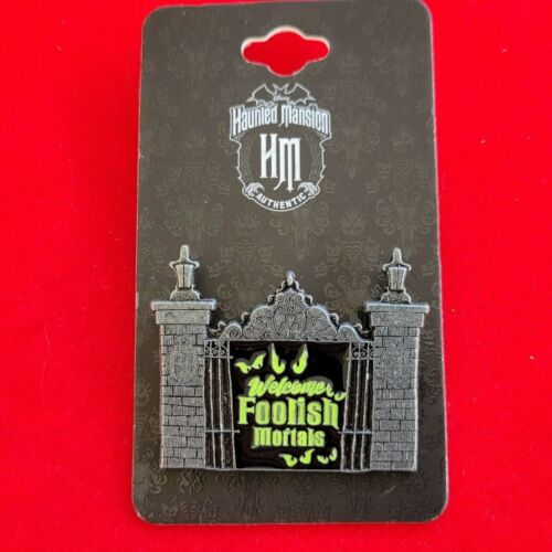 Disney Pin BoxLunch 2021 Haunted Mansion Welcome Foolish Mortals Front Gate