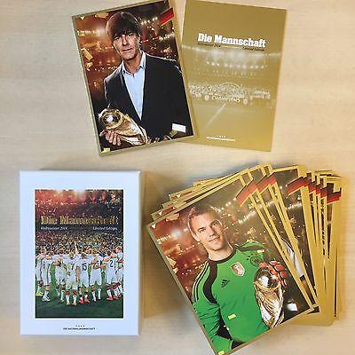 Limited, Limitierte Edition DFB Gold Autogrammkarten 27 Stück originalverpackt