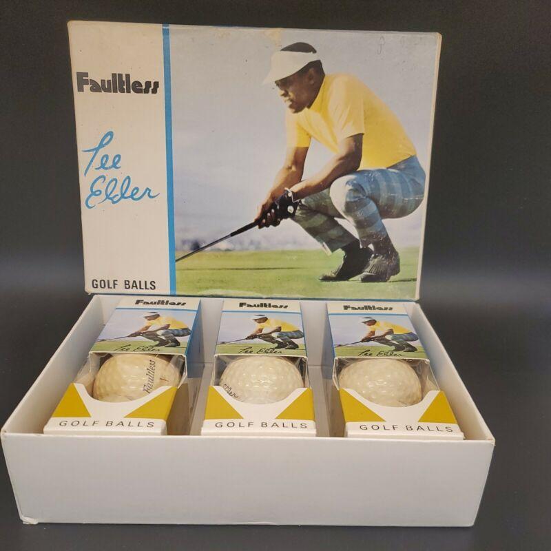 Lee Elder Faultless 3 Packs and Box Golf Balls NEW! RARE! Look!
