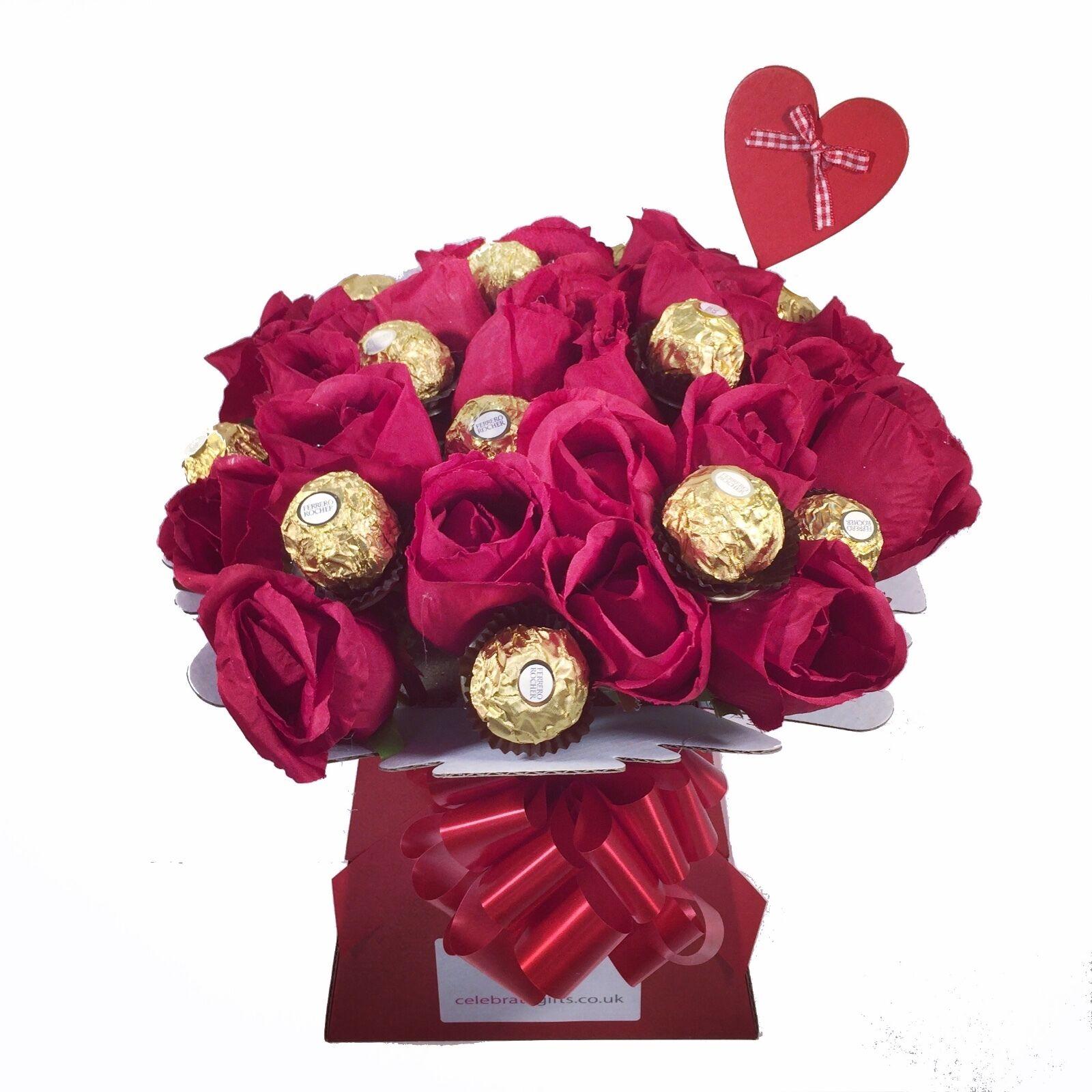 Luxury ferrero rocherlindt lindor red silk roses chocolate luxury ferrero rocherlindt lindor red silk roses chocolate bouquet izmirmasajfo