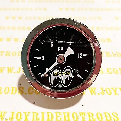 Direct Fit Engine Fuel Pressure Gauge 1-15 PSI- MOONEYES -  Liquid Filled for sale  Shipping to Canada