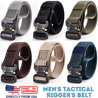 Mens Tactical Rigger's Belt Military Training Heavy Duty Nylon Quick Release ()