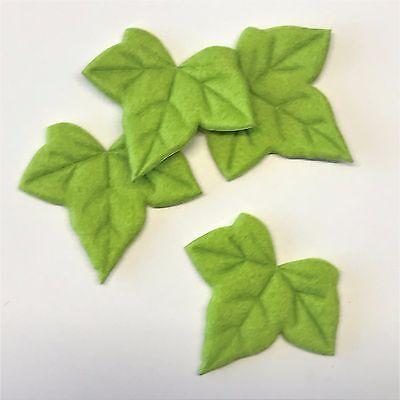 Textil Efeu Blätter Filzoptik Tischdeko in grün APFELGRÜN