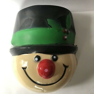 Vintage Snowman Christmas Lamp Post Head Cover Christmas Holly