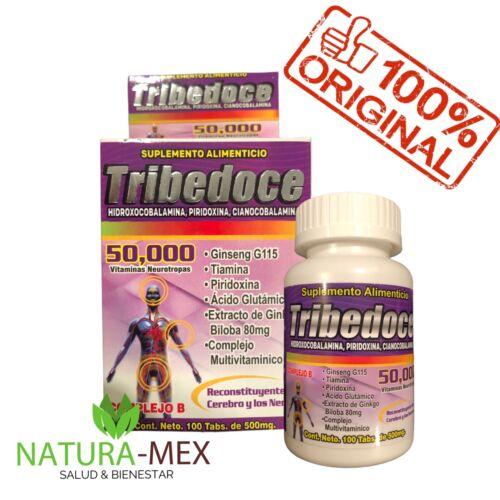 ORIGINALES‼️ TRIBEDOCE 50,000 Vitaminas Neurotropas Complejo B - De Mexico