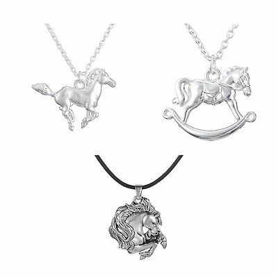 Little Pony Pendant Running Horse Necklace For Teen Girls Equestrian Gift - Horse Gifts For Girls