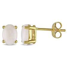 Amour 10-kt. Yellow Gold Opal Earrings