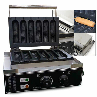 Stainless Steel Commercial Hot Dog Waffle Maker Lolly Baker Machine Non-stick
