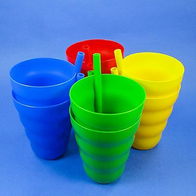 2 - 10oz. SIP A CUPS BUILT IN STRAW, JUICE GLASS SIPPY CUP TUMBLER, USA BPA FREE](2 Oz In Cups)