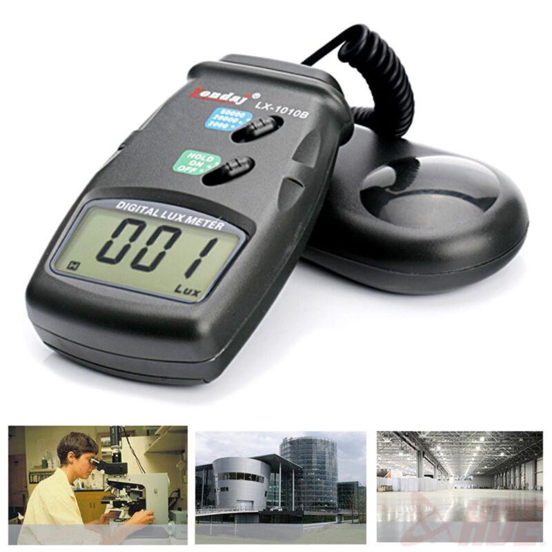 High Accuracy 50,000 Lux Digital LCD Light Meter Photometer 3 Range Luxmeter