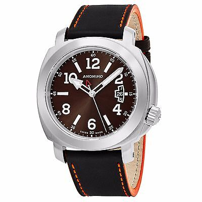 Anonimo Men's Sailor Swiss Automatic Brown Leather Watch AM200001006A01