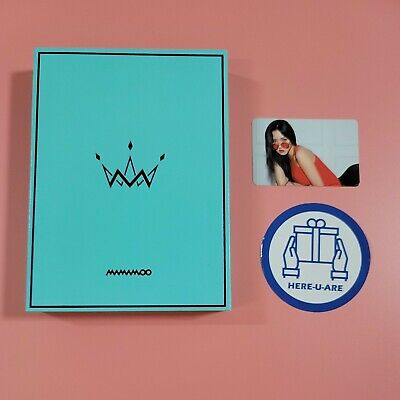 Mamamoo 5th mini purple album with Hwasa Photo card B version