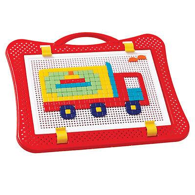 Mosaik-Spiel für Kinder 528tlg Steckspiel Steckmosaik Steckpins Steckkugeln  ()