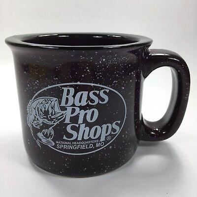 BASS PRO SHOPS Big Purple Plumb Ceramic Speckled Coffee Cup Mug Tea