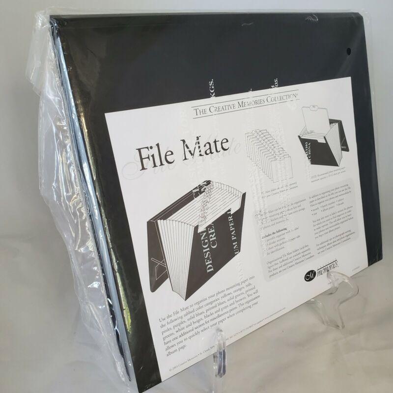 New Creative Memories Black File Mate Accordion Organizer Storage Folder