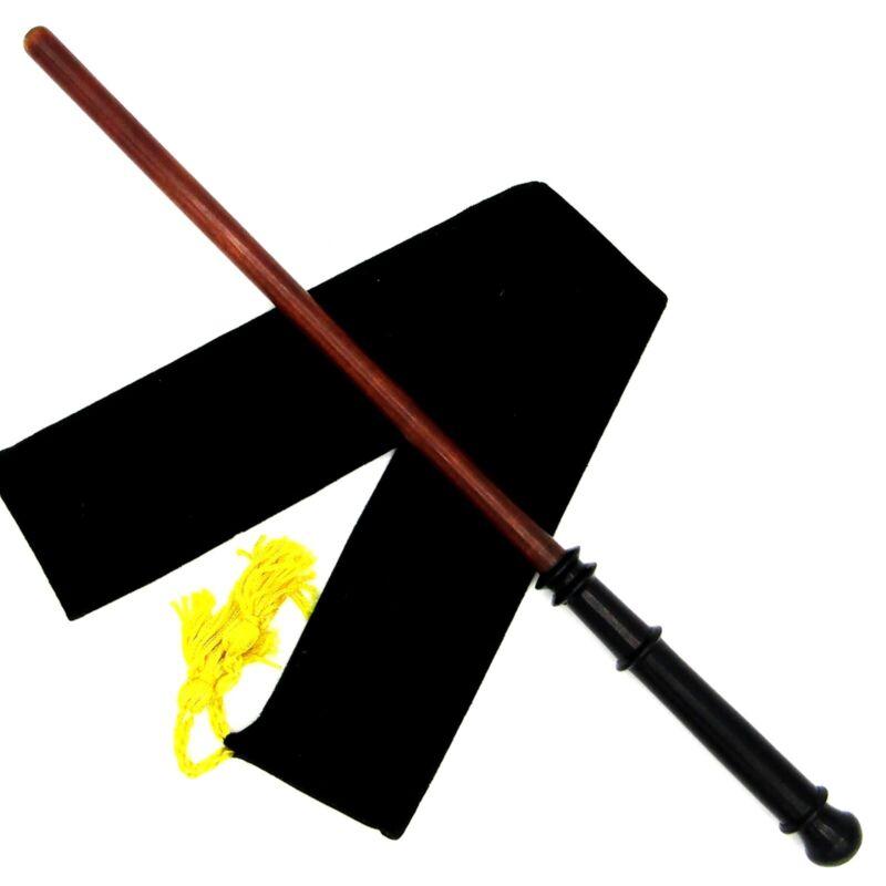 "14"" Healers Hand Turned Almond Wood Magic Wand Witch Wizard Wicca w/ Free Bag"
