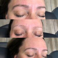 Eyebrows threading and tinting