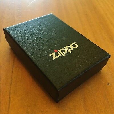 Zippo Lighter Case Empty Box Black with Papers BRAND NEW
