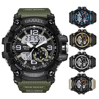 Mens Chronograph Rubber Strap (SMAEL Men Chronograph Rubber Strap Date Alarm Military Sport Digital Wrist)