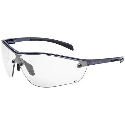 Bolle Silium Safety Glasses With Clear Anti-fog Lens Gunmetal Frame
