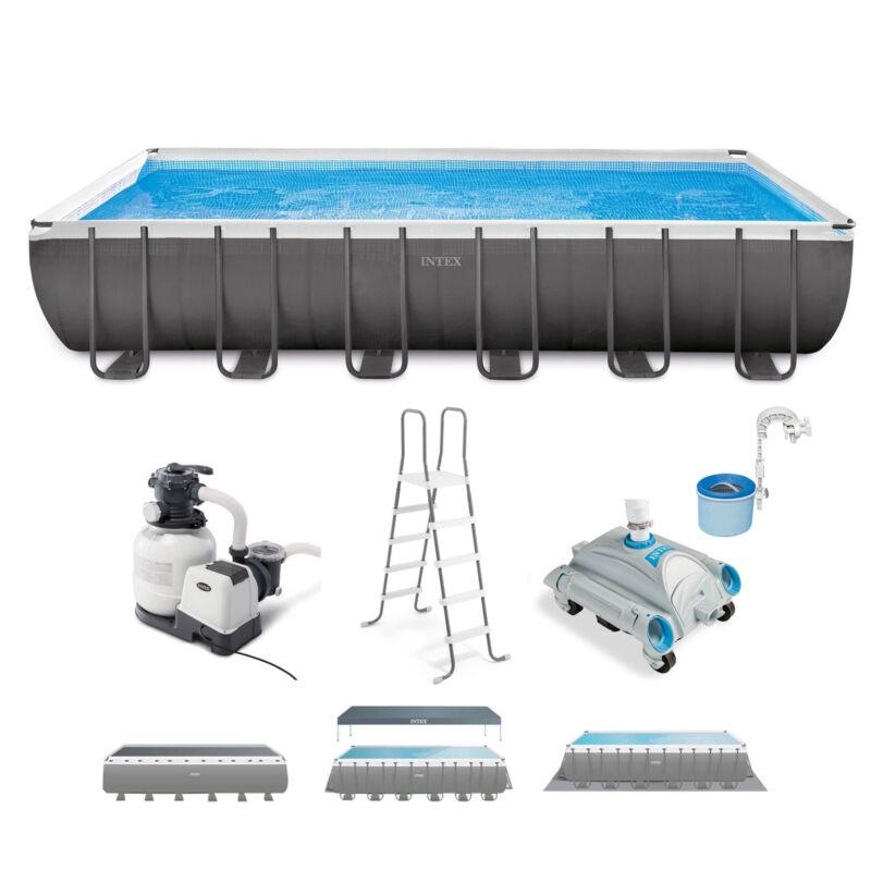 Intex 24ft x 12ft x 52in Ultra XTR Rectangular Pool, Filter, Vacuum, & Skimmer