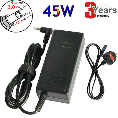 For Hp Pavilion 15-ac107na Laptop Blue Tip Charger AC Adapter Power Supply 45W G