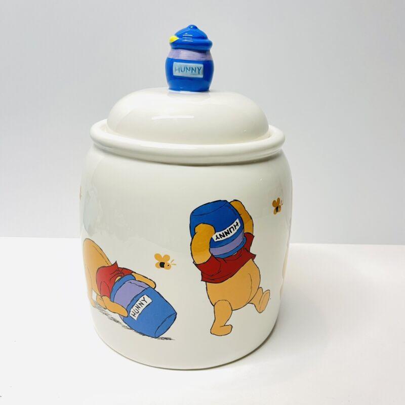 "Disney Winnie the Pooh Ceramic Hunny Cookie Jar by Treasure Craft 10.5"" Tall"