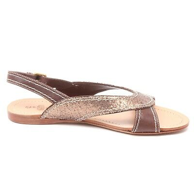 B3914 sandalo donna CAR SHOE scarpa marrone paillettes sandal shoe ... f12f2a379bb
