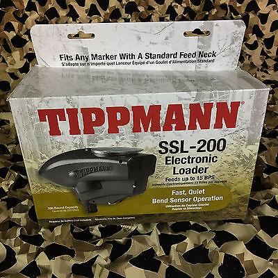 NEW Tippmann SSL-200 Electronic Paintball Loader Hopper - Black (T299011)