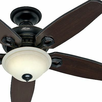 Hunter 52 in. Basque Black Ceiling Fan with Light & Remote Control