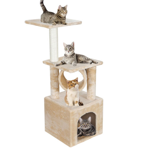36 inch  Cat Tree Bed Furniture Scratching Tower Post Condo