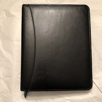 Franklin Covey Classic Planner Leather Binder Agenda Organizer 7-ring Zip Quest