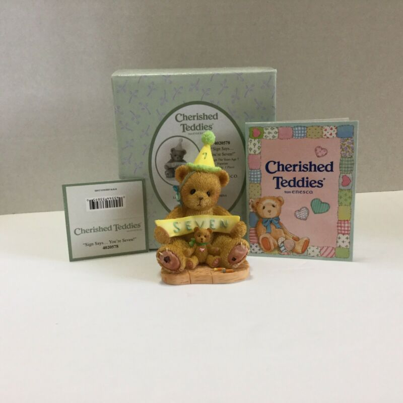 Cherished Teddies Through The Years Sign Says You