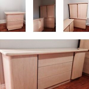 Bedroom set in birch