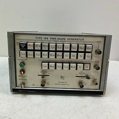 Tektronix Type 184 Time-mark Generator W Stand Tested And Working