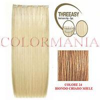 She Kit Threeasy 3 Fasce Extension Con Clip Colore 24 Biondo Chiaro Miele - miele - ebay.it