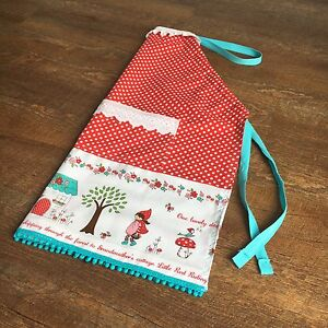 Kids Little Red Riding Hood Apron. Cooking. Baking.