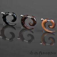 1,6mm Falso Spirale Piercing Orecchio Corno Legno Cono Espansore Falce Z418 -  - ebay.it