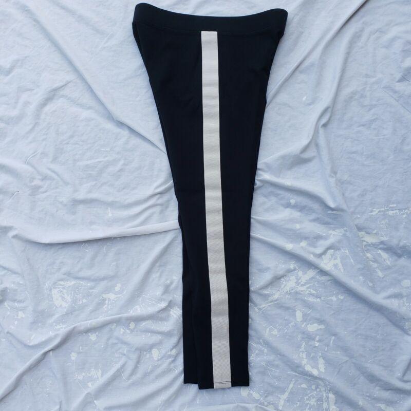 Nwot Ann Taylor Ponte Side Stripe Leggings Black/white Size Medium